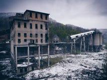 La instalación minera abandonada Fotografía de archivo libre de regalías