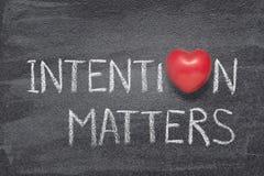 La intención importa corazón fotografía de archivo