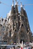 La interno Sagrada Familia Fotografia de Stock