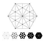 La intersección de líneas geométricas Foto de archivo