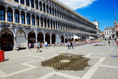 La inundación de la Plaza de San Marcos Imagenes de archivo