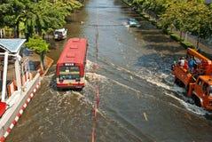 La inundación peor de Bangkok en 2011 fotografía de archivo libre de regalías