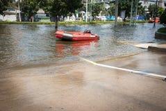 La inundación peor de Bangkok en 2011 foto de archivo libre de regalías