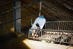 La inundación peor de Bangkok en 2011 Imagen de archivo libre de regalías