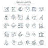 La investigación y el análisis enrarecen la línea Imágenes de archivo libres de regalías