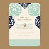 La invitación de la boda y ahorra las tarjetas de fecha libre illustration