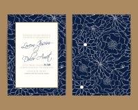 La invitación de la boda y ahorra las tarjetas de fecha ilustración del vector