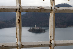 La isla Bled Fotografía de archivo