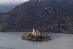 La isla Bled Imagenes de archivo