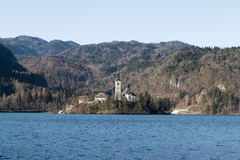 La isla Bled Fotos de archivo libres de regalías