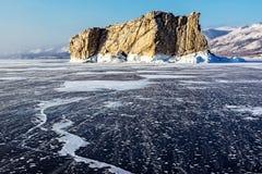 La isla congelada Imágenes de archivo libres de regalías