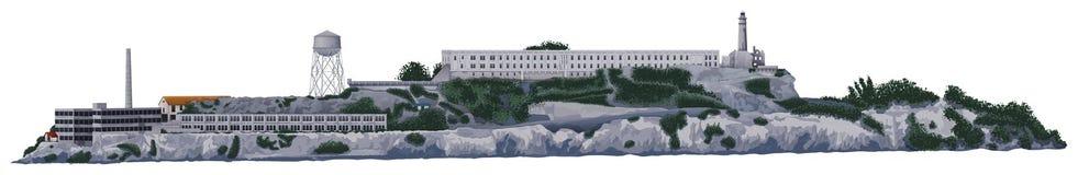 La isla de Alcatraz ilustración del vector