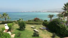 La isla de Chipre con objeto del mar almacen de video