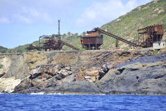 La isla de Elba abandonó la mina del hierro Imagen de archivo