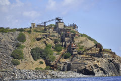 La isla de Elba abandonó la mina del hierro Foto de archivo libre de regalías