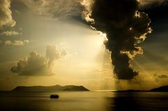 La isla de Kastelorizo (megisti) y de Kas Peninsula Imagen de archivo