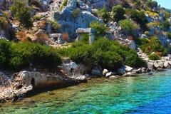 La isla de Kekova Foto de archivo libre de regalías