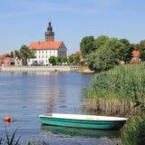 La isla de la ciudad de Havelberg con la iglesia de St Lawrence Imagen de archivo libre de regalías