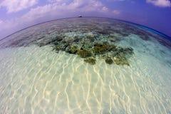 La isla de Maldivas Imágenes de archivo libres de regalías