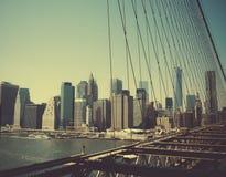 La isla de Manhattan Imágenes de archivo libres de regalías