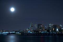 La isla de Montreal en la noche Imagen de archivo libre de regalías