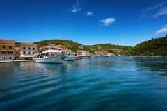 La isla de Paxos, Grecia imagenes de archivo