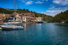 La isla de Paxos, Grecia fotos de archivo