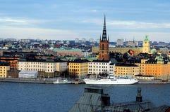 La isla de Riddarholmen, Estocolmo, Suecia Imagenes de archivo