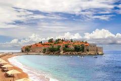 La isla de Sveti Stefan montenegro Fotografía de archivo