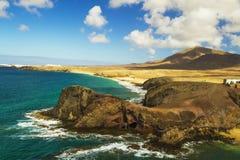 La isla de volcanes. Imágenes de archivo libres de regalías