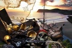La isla del tesoro Imagenes de archivo
