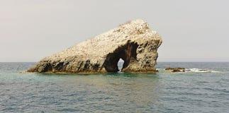 La isla histórica del ³ n del EL Farallà Imagen de archivo libre de regalías