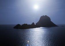La isla mágica de Es Vedra Imagen de archivo libre de regalías