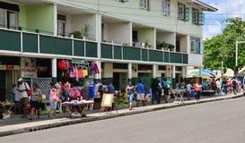 La isla pintoresca de la Santa Lucía en las Antillas fotografía de archivo libre de regalías