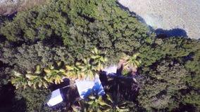 La isla privada aérea la Florida cierra 4k almacen de metraje de vídeo