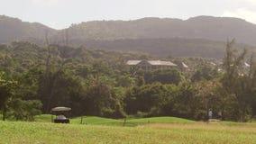 La isla tropical del campo de golf se divierte la reconstrucción metrajes