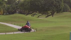 La isla tropical del campo de golf se divierte la reconstrucción almacen de metraje de vídeo