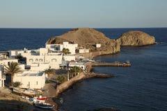 La Isleta, Almeria Spagna del villaggio Fotografie Stock Libere da Diritti