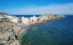 La Isleta del莫罗Cabo de加塔角阿尔梅里雅西班牙 库存照片