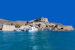 La isola-fortezza di Spinalonga Fotografie Stock