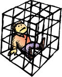 La jaula Foto de archivo libre de regalías