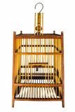 La jaula de madera del ฺbird fotografía de archivo libre de regalías
