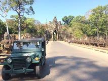 La jeep d'annata fotografie stock libere da diritti