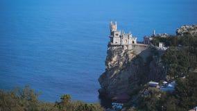 La jerarquía bien conocida del trago del castillo cerca de Yalta en Crimea, almacen de metraje de vídeo