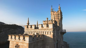 La jerarquía bien conocida del trago del castillo cerca de Yalta en Crimea, metrajes