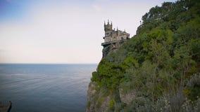 La jerarquía bien conocida del trago del castillo cerca de Yalta en Crimea, almacen de video