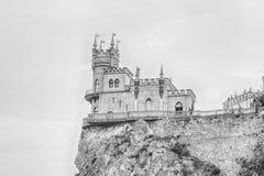 La jerarquía del trago, castillo escénico sobre el Mar Negro, Yalta, Crimea imágenes de archivo libres de regalías