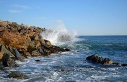 La jetée chez Dana Point Harbor, la Californie du sud Photo stock