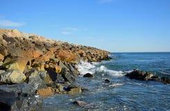 La jetée chez Dana Point Harbor, la Californie du sud Photos stock