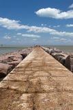La jetée du sud du port Aransas, le Texas Image libre de droits